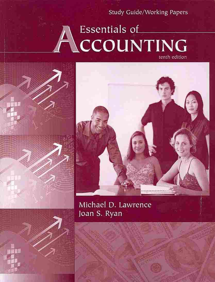 Essentials of Accounting By Lawrence, Michael D./ Ryan, Joan S. [Study Guide Edition]